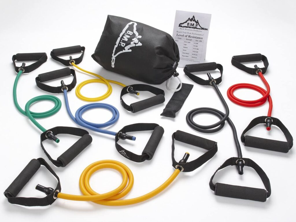 Black Mountain Products New Strong Man Set of 6 Resistance Bands