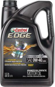 Castrol 03101 EDGE 0W-40 A3/B4 Advanced Full Synthetic Motor Oil