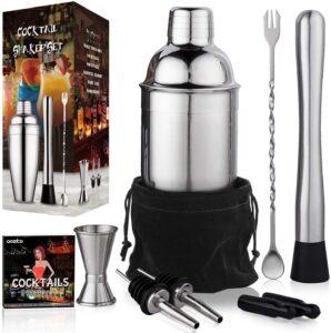 Cocktail Shaker Set Bartender Kit by Aozita