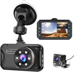 Dash Cam Front and Rear CHORTAU Dual Dash Cam 3 inch Dashboard Camera Full HD 170° Wide Angle Backup Camera