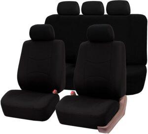 FH Group FB051BLACK115 Black Rear Split Flat Cloth Seat Cover