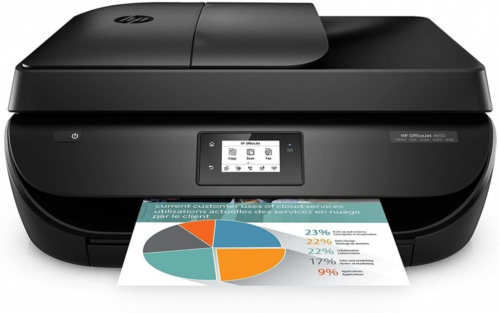 HP OfficeJet 4650 All-in-One Wireless Printer with Mobile Printing