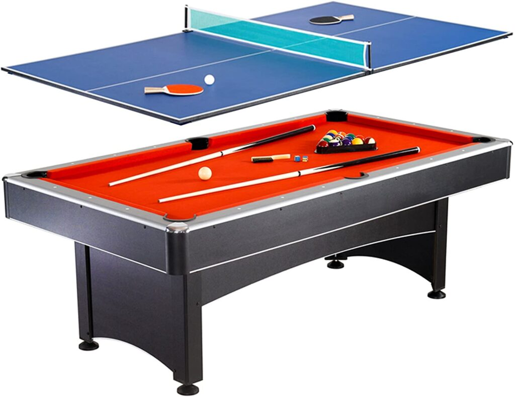 Hathaway Maverick 7-foot Pool and Table Tennis Multi Game