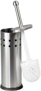 Home Basics Vented Stainless Steel Toilet Brush Holder