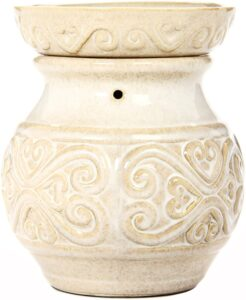 Hosley 6″ High Cream Ceramic Electric Candle Wax Warmer