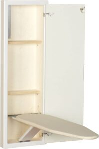 Household Essentials 18100-1 Stowaway Cabinet with Built in Ironing Board