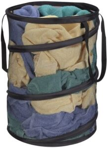 Household Essentials 2026 Pop-Up Collapsible Mesh Laundry Hamper