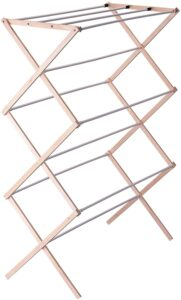 Household Essentials 5001 Collapsible Folding Wooden Clothes Drying Rack