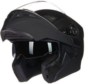 ILM Motorcycle Dual Visor Flip up Modular Full Face Helmet