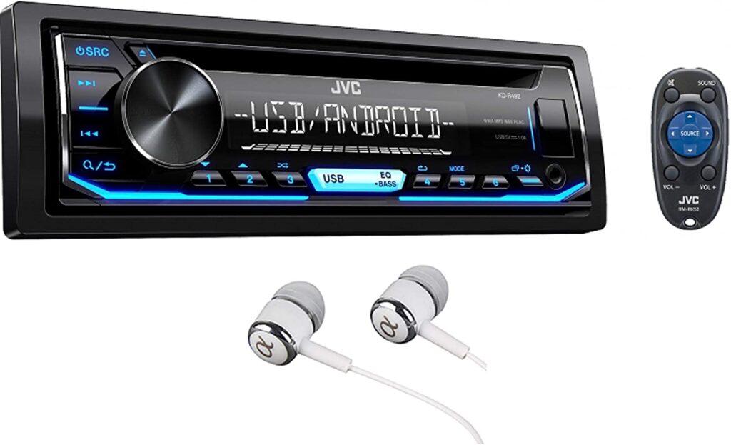 JVC Stereo Car Single DIN In-Dash CD MP3 Car Stereo Receiver