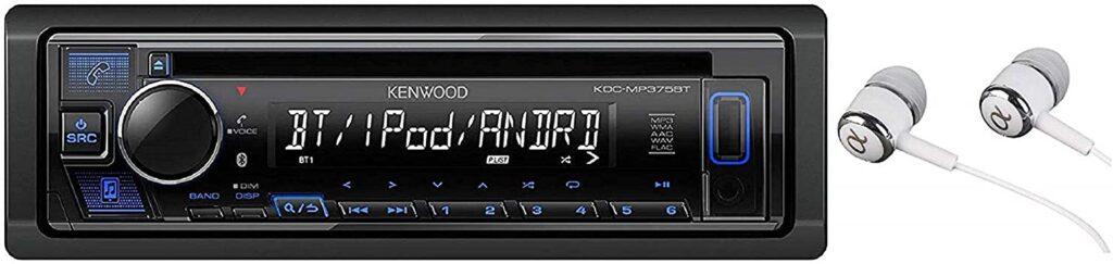 Kenwood KDC-MP375BT Car Single DIN In-Dash CD MP3 Stereo Receiver