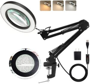 LANCOSC Magnifying Glass with Light