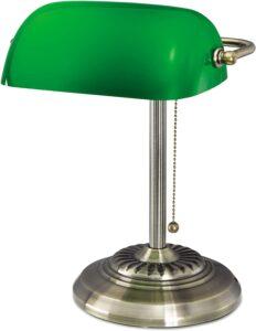 LEDU L557BR Traditional Banker's Lamp