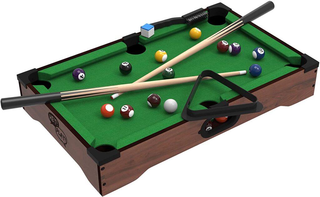 Mini Tabletop Pool Set- Billiards Game Includes Game Balls