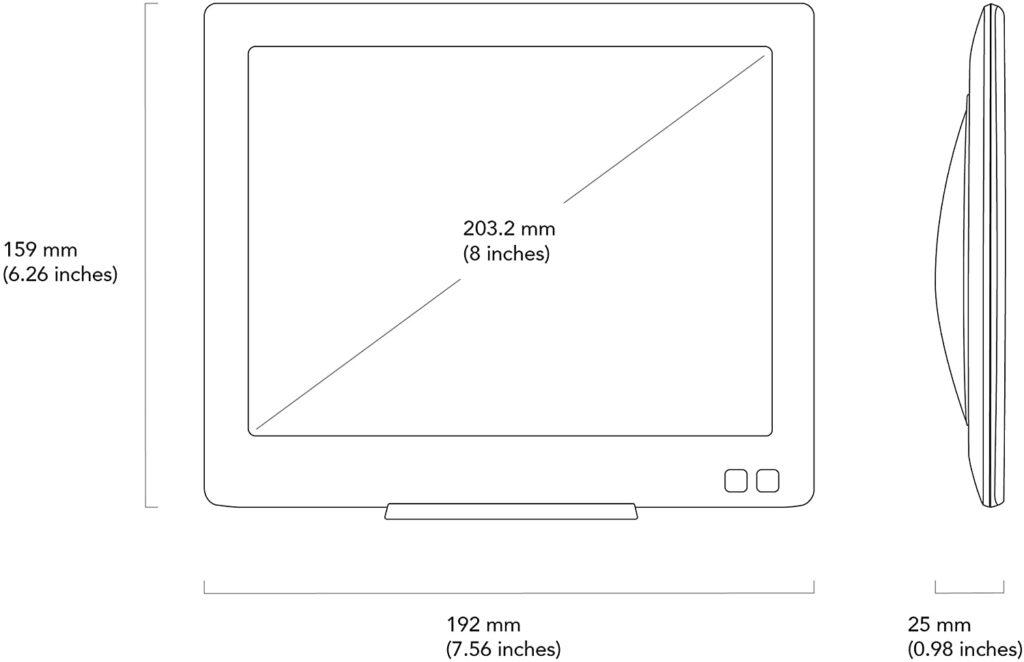 Nixplay Edge 8-Inch Wi-Fi Cloud Digital Photo Frame