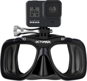 OCTOMASK - Dive Mask w/Mount for All GoPro Hero Cameras for Scuba Diving