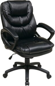 Office Star Faux Leather Manager's Chair