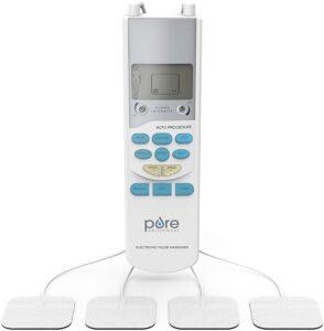 Pure Enrichment PurePulse TENS Electronic Pulse Stimulator Featuring Comprehensive LCD Screen