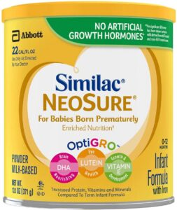Similac NeoSure Infant Formula with Iron, for Babies Born Prematurely 13.1 oz (6 Pack)