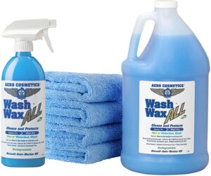 Wet or Waterless Car Wash Wax Kit 144 oz