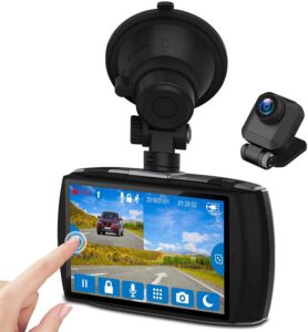 """Z-Edge Dual Dash Cam 4.0"""" Touch Screen Front and Rear Dash Cam FHD 1080P with Night Mode"""