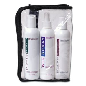 Brandywine Synthetic Wig Maintenance Kit, Non-Static Wig Shampoo, Revitalizing Wig Conditioner and Non-aerosol Wig Spray
