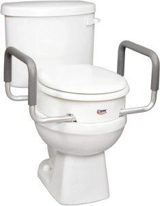 Carex Health Brands 3.5 Inch Raised Toilet Seat