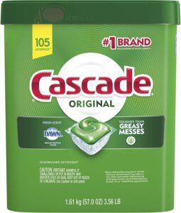 Cascade Original Dishwasher Pods, Actionpacs Dishwasher Detergent Tablet