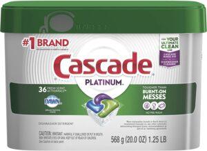 Cascade Platinum Dishwasher Pods, ActionPacs Dishwasher Detergent
