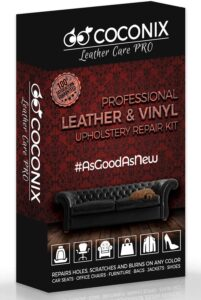 Coconix Upholstery, Vinyl and Leather Repair Kit - Furniture, Couch, Sofa, Boat, Car Seat, Jacket Restorer