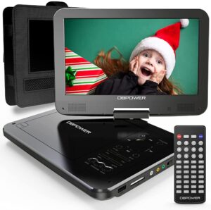 """DBPOWER 12"""" Portable DVD Player with 5-Hour Rechargeable Battery"""
