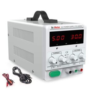 DC Power Supply, Dr.meter 30V 5A Adjustable Switching Regulated DC Bench Linear Power Supply
