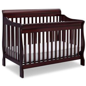 Delta Children Canton 4-in-1 Convertible Crib - Easy to Assemble, Espresso Cherry