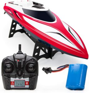 Force1 Velocity H102 RC Boat - Remote Control Boat for Pools and Lakes, Fast RC Boats for Adults and Kids