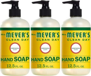 Mrs. Meyer's Clean Day Liquid Hand Soap, Cruelty Free and Biodegradable Hand Wash