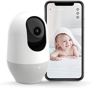 Nooie Baby Monitor, WiFi Pet Camera Indoor, 360-degree Wireless IP Camera, 1080P Home Security Camera, Motion Tracking, Super IR Night Vision, Works with Alexa, Two-Way Audio, Motion & Sound Detection