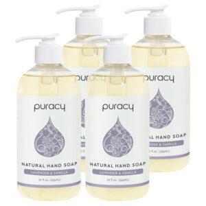 Puracy Natural Hand Soap, Lavender & Vanilla, Moisturizing Natural Hand Wash