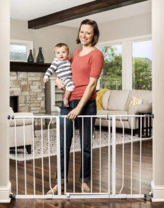 Regalo Easy Open 47-Inch Super Wide Walk Thru Baby Gate