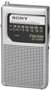 Sony ICF-S10MK2 Pocket AM FM Radio