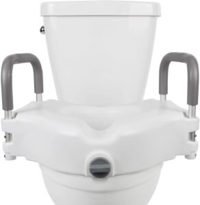 """Vive Raised Toilet Seat - 5"""" Portable, Elevated Riser with Padded Handles"""