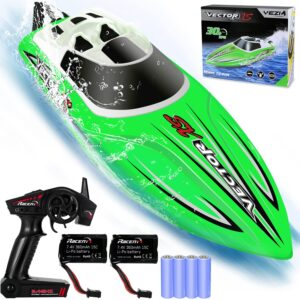 YEZI Remote Control Boat for Pools & Lakes,Fast RC Boat for Kids & Adults,Self Righting Remote Controlled Boat