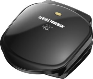 George Foreman Plate Electric Indoor Grill and Panini Press